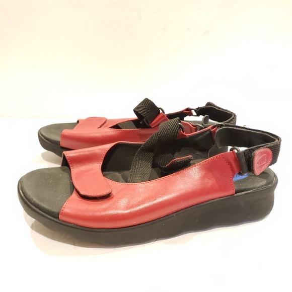 word nieuw officiële foto's geweldige selectie Wolky womens red sandals size 38
